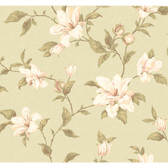 Regents Glen My Magnolia Wallpaper-PP5742-Light Sage Green-White-pretty Pink