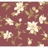 Regents Glen My Magnolia Wallpaper-PP5744-Claret Wine-White-Light Olive Green
