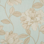 Contemporary Enchantment Charming Carolina Blue-Silver ET2005 Wallpaper