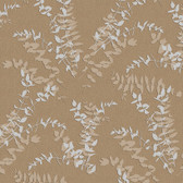 Contemporary Enchantment Foliage Toss Brown-Silver ET2024 Wallpaper