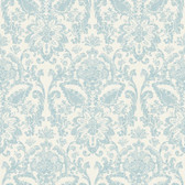 AM8732 - American Classics Dinnerware Wallpaper in Blue, White, and Green