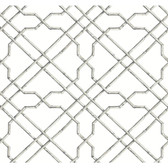 AB1821 - Ashford House Black & White Bamboo Trellis Grey-White Wallpaper