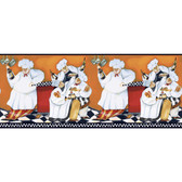 BG1680BD - American Classics Chef's A Cookin Border in White, Russet-Red, Amber-Black, Brown