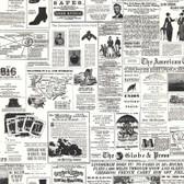 KW7620 - American Classics Headline News Wallpaper