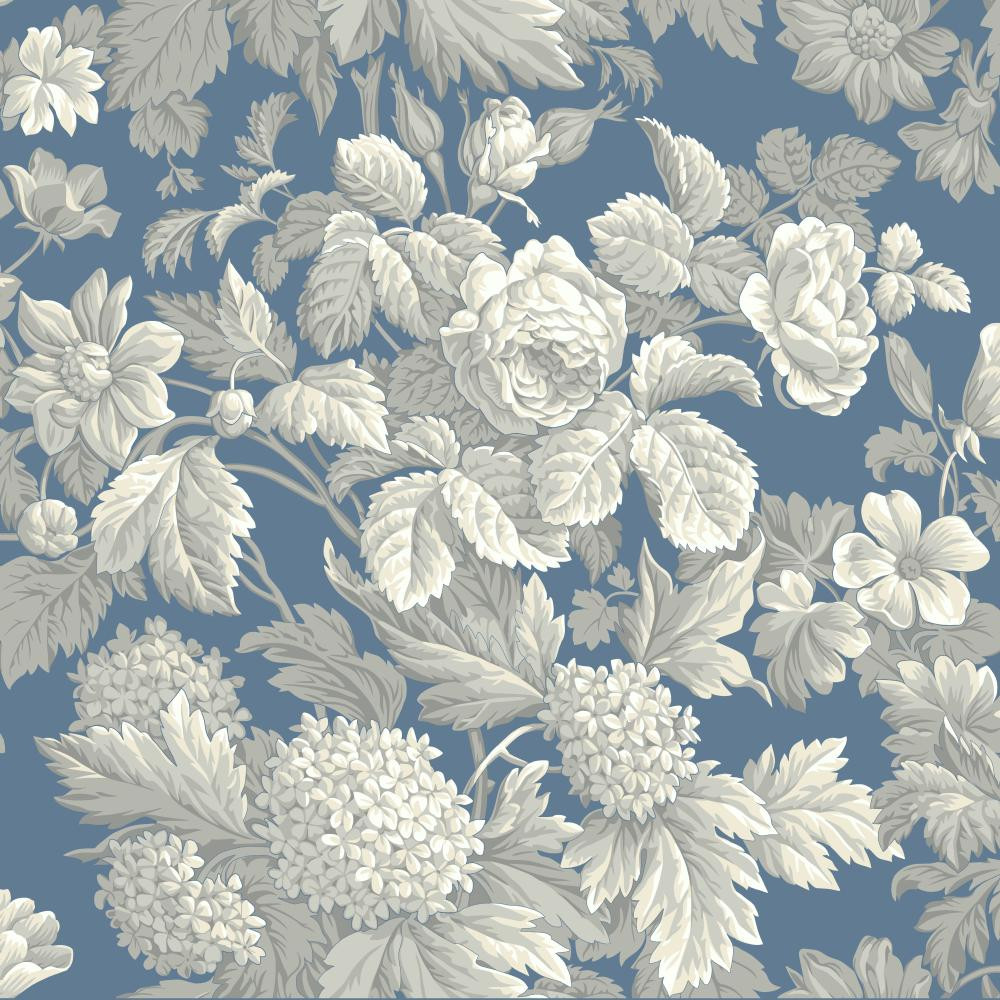 Blue Book Antique Floral Wallpaper Kc1845 Indoorwallpaper Com