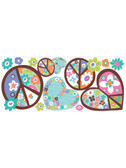 Kids Book Heart & Peace Sign Wall Decals RMK1621GM