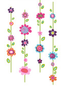 Kids Book Flower Stripe Wall Decals RMK1622GM