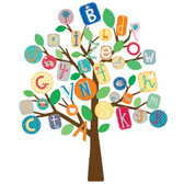 Kids Book ABC Tree Giant Wall Decal RMK2057SLM