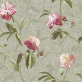 Metallics Book Peonies Magenta Wallpaper GN2425