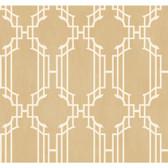 Orange & Yellow Book Trellis With Stripe Wallpaper AD8194-Shimmering Champagne-White