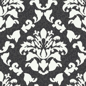 Girl Power 2 Damask With Skins Grey Wallpaper PW3935