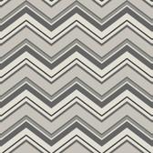 AB2149 - Ashford House Black & White Chevron Wallpaper in Cream, Silver, and Olive Green