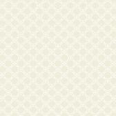 AB2154 - Ashford House Black & White Geometric Trellis Cream Wallpaper
