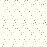 AB2160 - Ashford House Black & White Dots Wallpaper in White