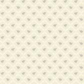 AB2165 - Ashford House Black & White Ribbon Harlequin Cream Wallpaper