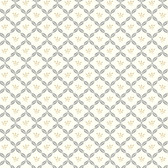 AB2166 - Ashford House Black & White Ribbon Harlequin Gold-Silver Wallpaper