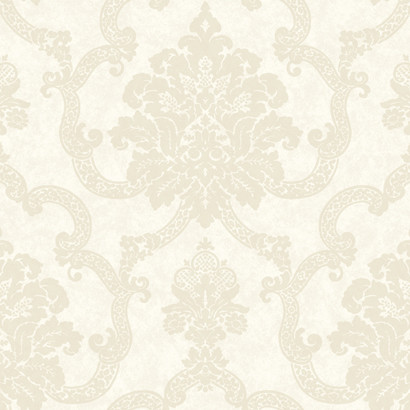 Ab2183 Ashford House Black White Decorative Damask Wallpaper