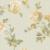 Texture Graystone Estate Whitworth Peony HD6916 Gold-Green Wallpaper