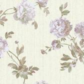 Texture Graystone Estate Whitworth Peony HD6921 Cream-Lavender Wallpaper