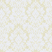 Texture Graystone Estate Raised Layered Damask HD6928 White-Silver Wallpaper