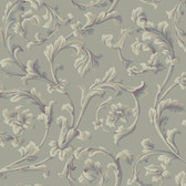 Texture Graystone Estate Grand Hunt Scroll HD6964 Fossil Grey Wallpaper