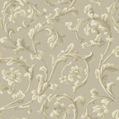 Texture Graystone Estate Grand Hunt Scroll HD6965 Taupe Wallpaper