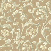 Texture Graystone Estate Grand Hunt Scroll HD6966 Hazelnut Wallpaper