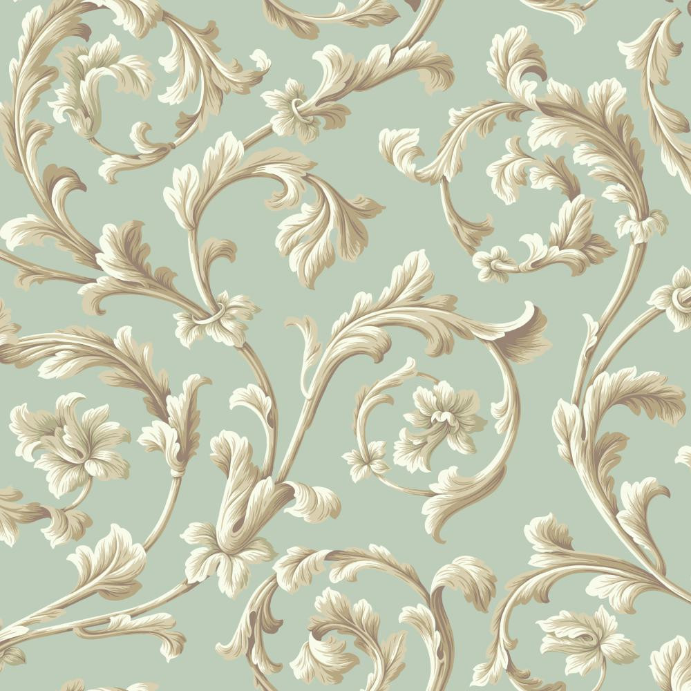 Texture Graystone Estate Grand Hunt Scroll Hd6968 Mint Green