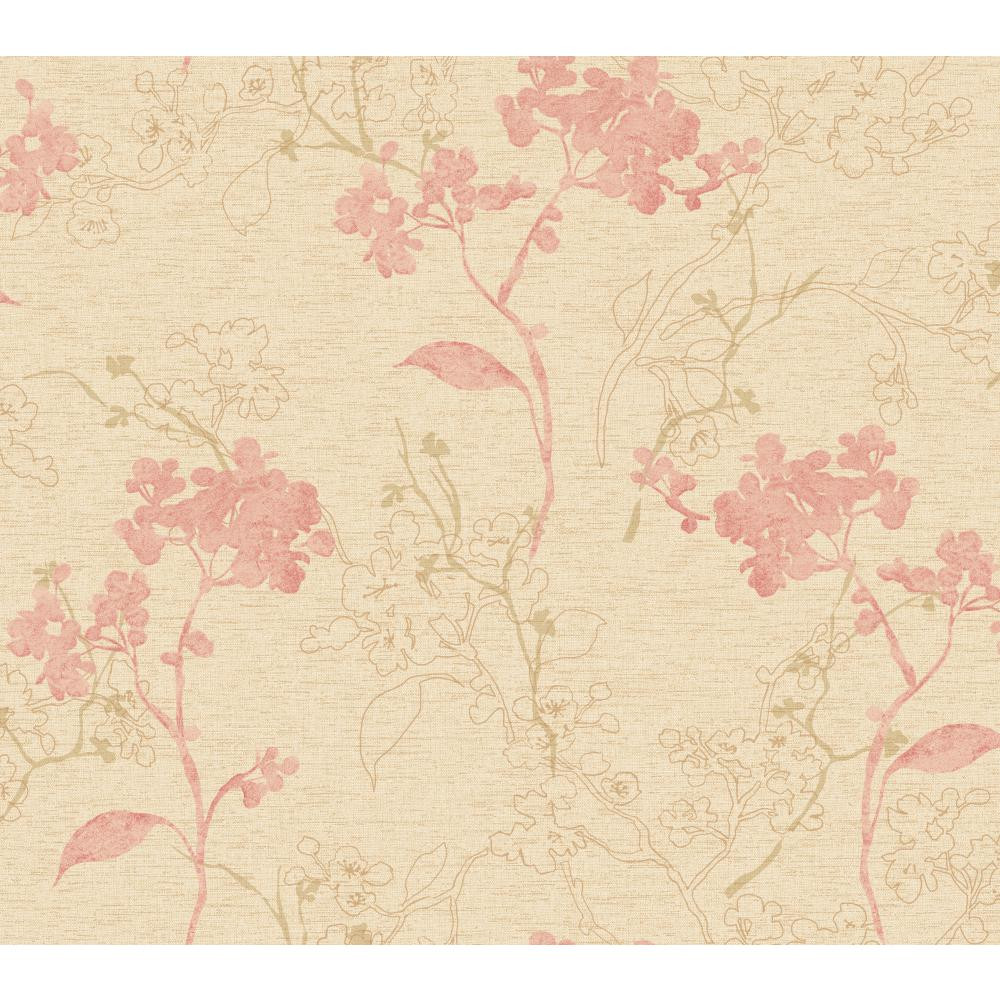 Whisper Prints Raised Floral Branches Wallpaper Br6212