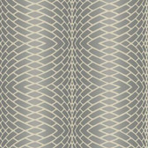 DN3772 - Candice Olson Grey Impulse Textured Striped Wallpaper