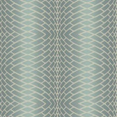DN3775 - Candice Olson Blue Impulse Textured Striped Wallpaper