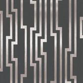 Shimmering Details DE8818 Velocity Black-Silver Wallpaper