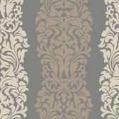 DN3801 - Candice Olson Brown Harmony Striped Wallpaper