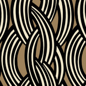 Black GM1224 Braid Pattern Wallpaper
