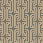 Charcoal GM1236 Chain Design Wallpaper