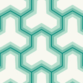 Teal GM1240 Faux Puzzle Wallpaper