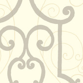 Grey GM1251 Faux Ironworks Wallpaper
