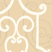 GN1252 Light Brown Faux Ironworks Wallpaper