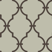Silver GM1272 Curvilinear Faux Ironworks Wallpaper