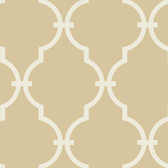 Beige GM1273 Curvilinear Faux Ironworks Wallpaper