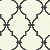 Off White GM1275 Curvilinear Faux Ironworks Wallpaper
