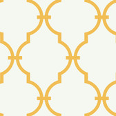 Gold GM1276 Curvilinear Faux Ironworks Wallpaper
