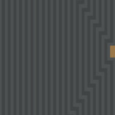 Grey GM1289 Ascending Stripes Wallpaper