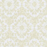 Ash Brown NA0210 Damask on Faux Wood Wallpaper