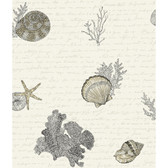 Kitchen & Bath Oceanic Grey-White Wallpaper KH7003