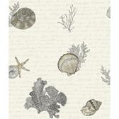 Kitchen & Bath Oceanic Grey-White Wallpaper KH7003