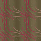 Taupe NA0245 Tonal Flowing Lines Wallpaper