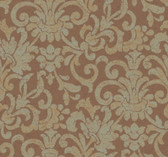 Brown MR5024 Damask Stringcloth Wallpaper