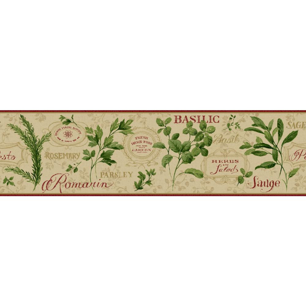 Wallpaper Border Black//Tan//Red//Green Country Floral Dollhouse Miniatures