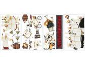 Border Book Chefs Appliques RMK1255SCS - White